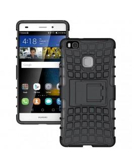 Carcasa protectie spate anti alunecare pentru Huawei P9 Lite, neagra