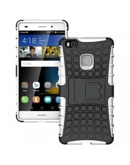 Carcasa protectie spate anti alunecare pentru Huawei P9 Lite, alba