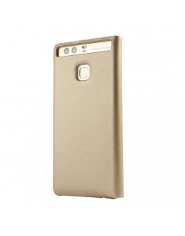"""Husa de protectie """"Book View"""" pentru Huawei P9, gold"""