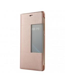 """Husa de protectie """"Book View"""" pentru Huawei P9, rose gold"""