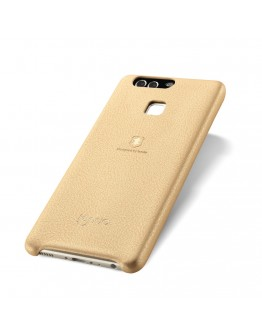 Carcasa protectie spate LENUO din plastic si piele ecologica pentru Huawei P9, gold