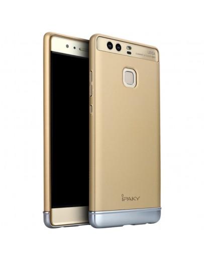 Carcasa protectie din plastic IPAKY pentru Huawei P9, gold