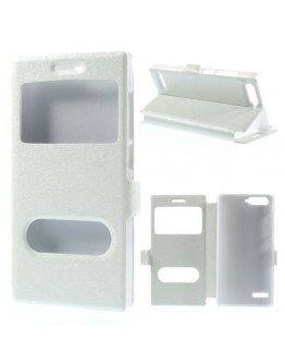 """Husa de protectie Flip Cover """"Dual Window View"""" pentru Huawei Ascend P7 Mini - alba"""