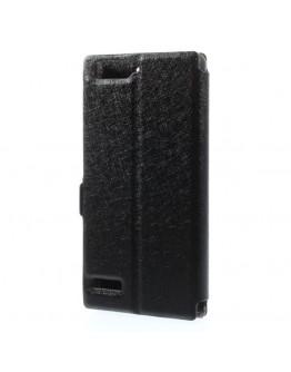 "Husa de protectie Flip Cover ""Dual Window View"" pentru Huawei Ascend P7 Mini - neagra"