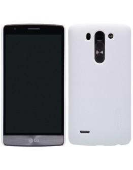 """Carcasa protectie spate """"Super Frosted"""" + folie protectie ecran pentru LG G3 S Mini D722 - Alba"""