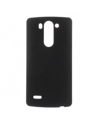 Carcasa protectie spate din plastic cauciucat pentru LG G3 D850 - neagra