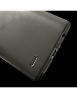 Carcasa protectie spate din silicon ultra-subtire 0.65mm pentru LG G3 D850 - gri