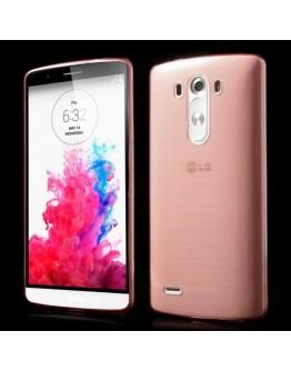 Carcasa protectie spate din silicon ultra-subtire 0.65mm pentru LG G3 D850 - roz