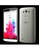 Carcasa protectie spate din silicon ultra-subtire 0.65mm pentru LG G3 D850 - transparenta