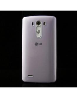 Carcasa protectie spate din silicon ultra-subtire 0.65mm pentru LG G3 D850 - mov