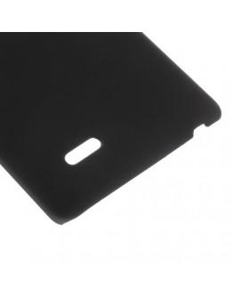 Carcasa protectie spate din plastic cauciucat pentru LG G3S - neagra