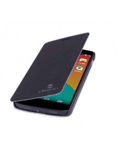 Husa flip cover pentru LG Google Nexus 5 - neagra