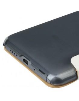 Husa protectie flip cover cu fereastra pentru Meizu MX4 PRO - alba