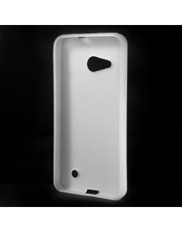 Carcasa protectie spate mata din gel TPU pentru Microsoft Lumia 550 - alba