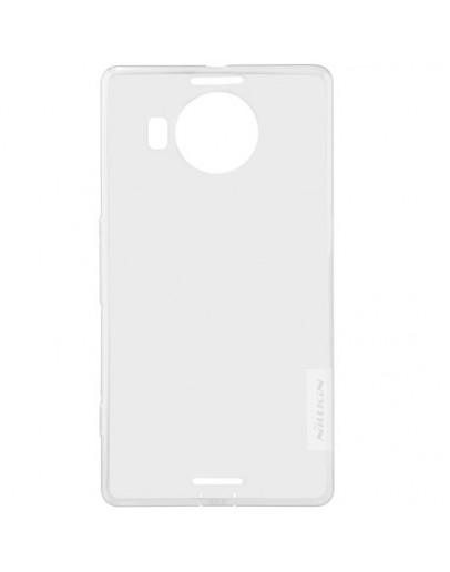 Carcasa protectie spate 0.6mm din gel TPU pentru Microsoft Lumia 950 XL - alba