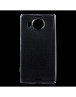 Carcasa protectie spate lucioasa din gel TPU Microsoft Lumia 950 XL - transparenta