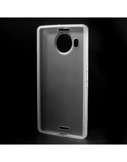 Carcasa protectie spate mata din gel TPU pentru Microsoft Lumia 950 XL - transparenta