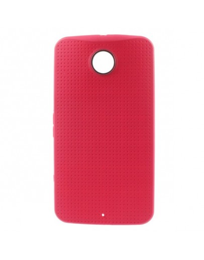 "Carcasa protectie spate ""Mesh"" pentru Motorola Nexus 6 - rosie"