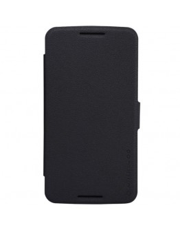 Husa protectie flip cover pentru Motorola Moto Nexus 6 - neagra