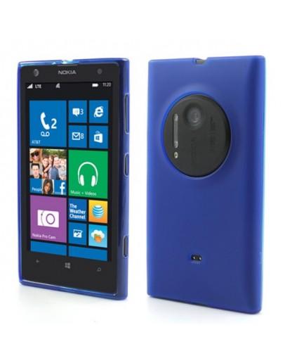 Carcasa protectie spate mata pentru Nokia Lumia 1020 - albastra