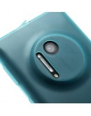 Carcasa protectie spate cu dopuri anti-praf pentru Nokia Lumia 1020 - albastra