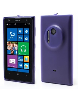 Carcasa protectie spate cu dopuri anti-praf pentru Nokia Lumia 1020 - mov