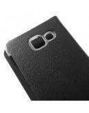Husa protectie de tip flip cover pentru Samsung Galaxy A3 A310F (2016), neagra