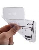 Carcasa protectie spate imprimata din gel TPU 0.6mm pentru Samsung Galaxy A3 SM-A310F (2016), alba