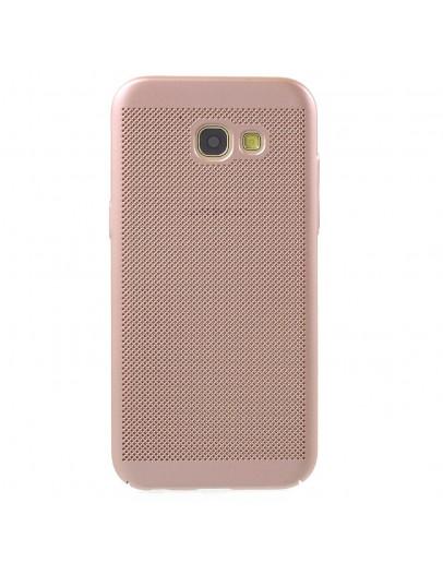Carcasa protectie spate din plastic cauciucat pentru Samsung Galaxy A5 (2017), rose gold