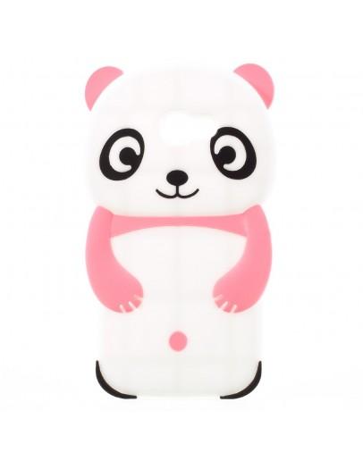 Carcasa protectie spate Panda pentru Samsung Galaxy A3 2017, roz deschis