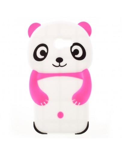 Carcasa protectie spate Panda pentru Samsung Galaxy A3 2017, roz inchis