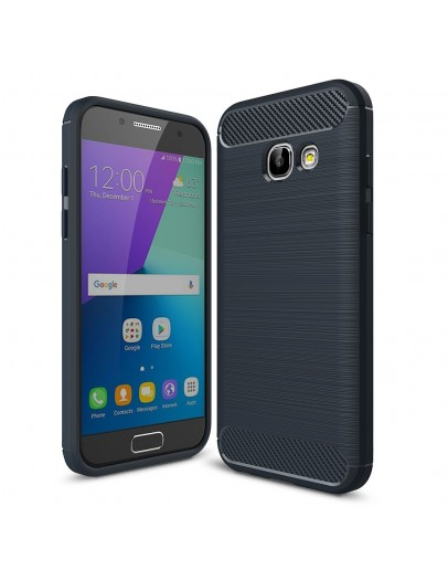 Carcasa protectie spate din gel TPU pentru Samsung Galaxy A3 (2017), albastra inchis