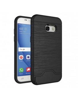 Carcasa protectie spate din plastic si  gel TPU pentru Samsung Galaxy A3 (2017), neagra