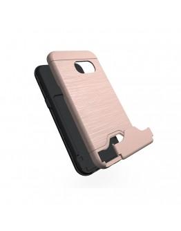 Carcasa protectie spate din plastic si  gel TPU pentru Samsung Galaxy A3 (2017), rose gold