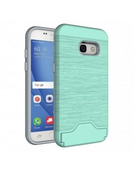Carcasa protectie spate din plastic si  gel TPU pentru Samsung Galaxy A5 (2017), verde deschis