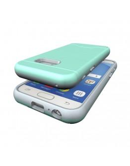 Carcasa protectie spate din plastic si  gel TPU pentru Samsung Galaxy A3 (2017), verde deschis
