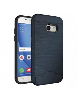 Carcasa protectie spate din plastic si  gel TPU pentru Samsung Galaxy A3 (2017), albastru inchis