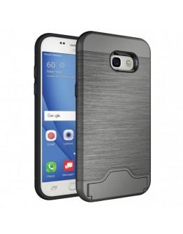 Carcasa protectie spate din plastic si  gel TPU pentru Samsung Galaxy A5 (2017), gri