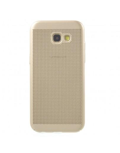 Carcasa protectie spate din plastic cauciucat pentru Samsung Galaxy A5 (2017), gold