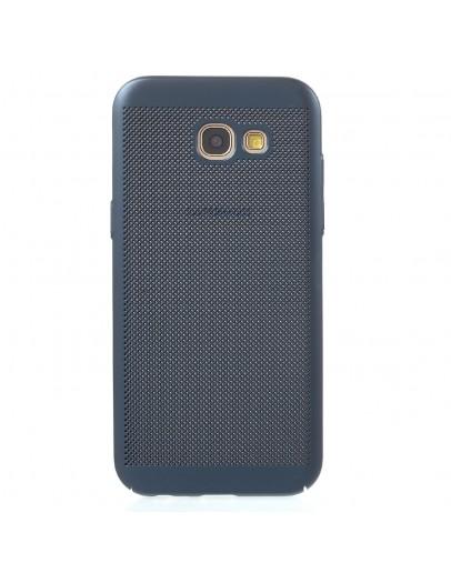 Carcasa protectie spate din plastic cauciucat pentru Samsung Galaxy A5 (2017), albastra inchis