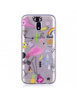 Carcasa protectie ,,Flamingo'' din gel TPU pentru Samsung Galaxy J3 (2017)