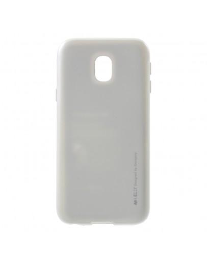Carcasa protectie anti-amprenta din gel TPU pentru Samsung Galaxy J3 (2017), silver