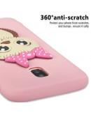 Carcasa protectie 3D ,,Bufnita'' din gel TPU pentru Samsung Galaxy J3 (2017), roz