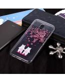 Carcasa protectie imprimata ,,Copac cu flori'' din gel TPU pentru Samsung Galaxy J3 (2017)
