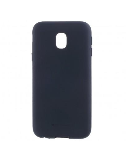 Carcasa protectie anti-amprenta din gel TPU pentru Samsung Galaxy J3 (2017), albastra inchis
