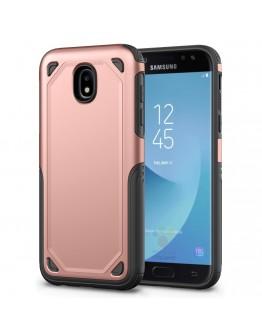 Carcasa protectie spate din plastic si gel TPU pentru Samsung Galaxy J3 (2017), rose gold