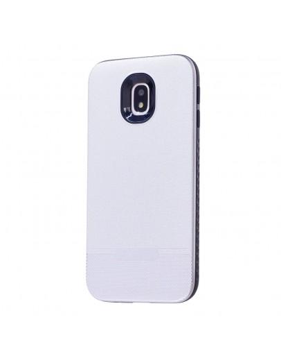 Carcasa protectie spate din plastic si gel TPU pentru Samsung Galaxy J3 (2017), silver