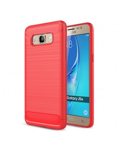 Carcasa protectie spate din gel TPU pentru Samsung Galaxy J5 (2016), rosie