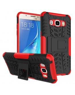 Carcasa protectie spate cu suport pentru Samsung Galaxy J5 (2016), rosie