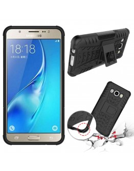 Carcasa protectie spate cu suport pentru Samsung Galaxy J5 (2016), neagra